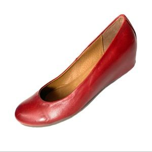 Locale Made in Portugal Red Leather Wedges 40 US9
